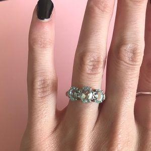 Jewelry - 10k White Gold Aquamarine Ring